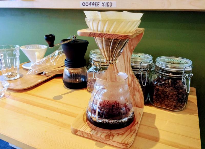 rebootにカフェコーナーができました!スペシャルティコーヒーをお楽しみください
